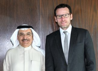NOGA general manager, oil and gas affairs, Jassim al Shirawi, and ASRY business development manager, Arran Dall