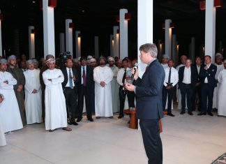 Sohar Port chief executive, Mark Geilenkirchen, presenting a review of 2018 at a special event, which also marked the port's 15 years in operation