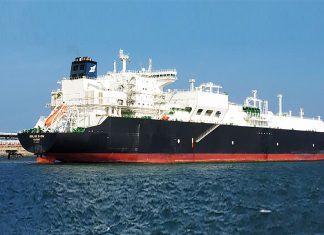 The LNG carrier Golar Snow alongside in Ennore