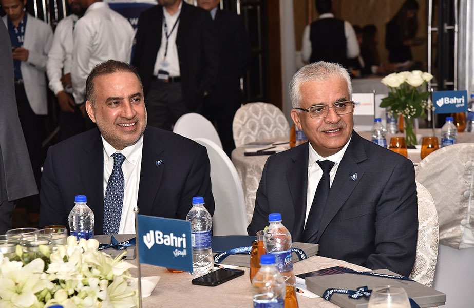 Abdullah Aldubaikhi, Chief Executive of Bahri and Ahmed Al-Ghaith, President of Bahri Logistics at the Mumbai gala dinner