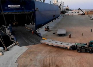 The Port of Duqm has demonstrated a ro-ro cargo handling capability