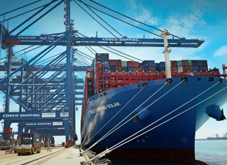 : Cosco Shipping Solar is the largest container vessel to date to call at Khalifa Port