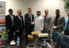 From left: George Yohannan, Bjarne Kolbo Nielsen and Kevin Momme from Viking Life-Saving Equipment. Middle to right: Yousef Humaid Saleh, Mashood Dar, Gaurav Ravi Chaudhary and Abubacker Sitheik from ADNOC Logistics & Services.