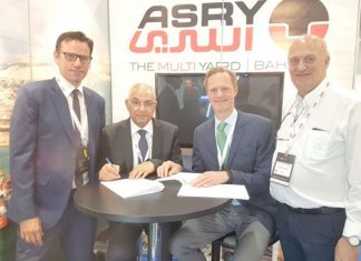 ASRY signed the agency agreement with UQP at this year's Norshipping event