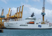 Cable layer delivered by Colombo Dockyard