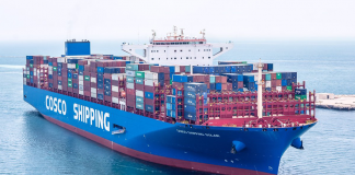 Cosco Shipping Solar is the largest container vessel to call at a Saudi port to date
