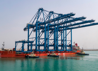 Abu Dhabi Ports, which received the IIP Platinum award as reflection of its commitment to its people, recently received four advanced quayside gantry cranes for the new Cosco Shipping Ports terminal