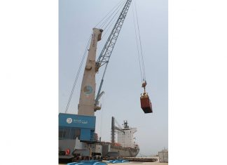 The first containers for the Duqm Refinery project being unloaded at the port