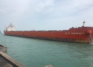 GP Zafirakis being unloaded at Essar's terminal in Salaya