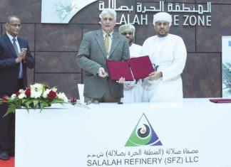 Salalah Freezone has signed an agreement for the building of a new refinery