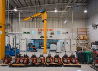Mak Middle East's turbocharger servicing facility at DMC