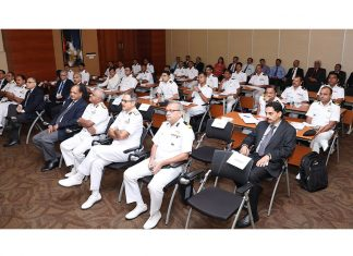Senior ICG officers attending the launch of the training course at IRClass head office in Mumbai