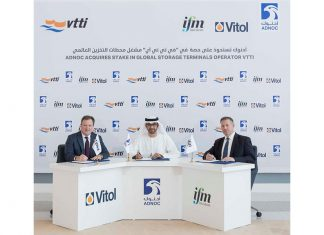 ADNOC has recently signed a deal to buy a stake in global tank storage operator, VTTI