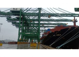 PSA's BMCT terminal in JNPT broke its handling record when working on APL Korea