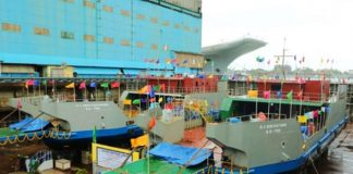 Cochin Shipyard has launched two ro-pax vessels for IWAI