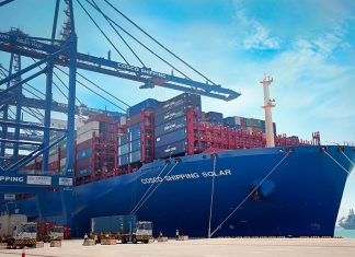Business from COSCO Shipping Ports has helped boost container throughput at Khalifa Port