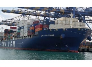 CMA CGM calling at Chennai Container Terminal on September 8th this year
