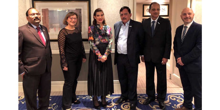 IRClass' senior management team meets with Natasa Pilides, the first Shipping Deputy Minister to the President of the Republic of Cyprus during London International Shipping Week