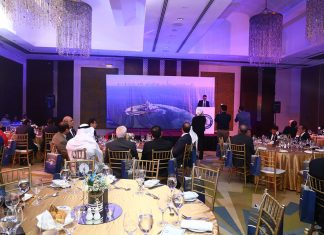 Grandweld general manager, Jamal Abki, speaking at a special event in Dubai to mark its 35th anniversary