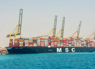 MSC Mina alongside at King Abdullah Port