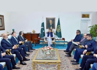 Imran Khan, Prime Minister of Pakistan, meeting with senior executives from Hutchison Ports