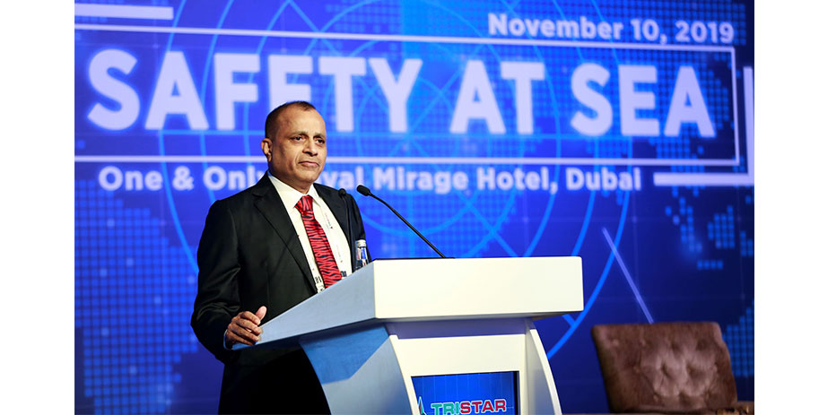 Eugene Mayne, CEO at Tristar, addressing the Safety at Sea Conference in Dubai this month