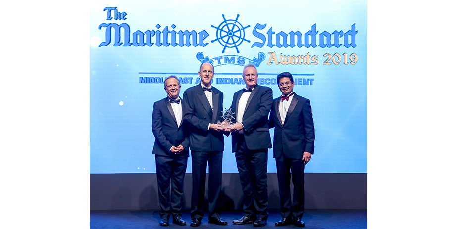 Ronald Lichtenecker, Managing Director for GAC Dubai, accepted the Ship Agency of the Year accolade at The Maritime Standards 2019 ceremony