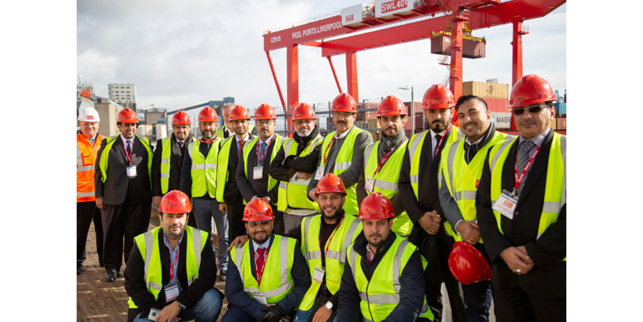 The King Abdullah Port contingent during its visit to the UK Port of Liverpool