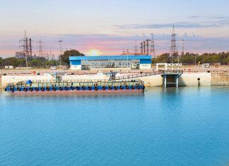 The new -passenger ferry terminal at Hazira