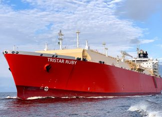 Tristar Ruby is the first LNG carrier to be operated by the company