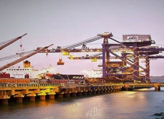 The JSW Infrastructure iron ore terminal in Paradip