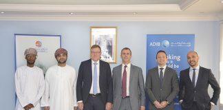 ADIB and OSC executives signing the new Ijara facility for two VLCCs