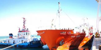 The LPG carrier Gas Esco was the first vessel to call at the new dedicated facility in Gwadar port