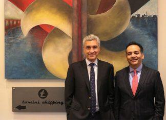 Imtiaz Shaikh, Tomini group chairman, with Nitin Mehta, CEO
