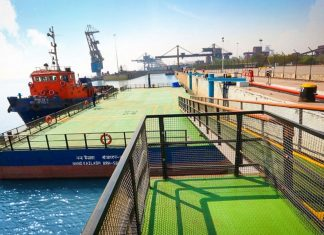 Essar operates a range of facilities in Hazira port, including dry bulk and passenger terminals