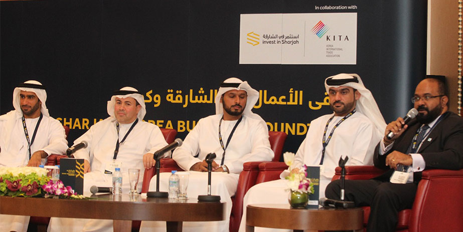 Emerson Buarque participated in the Sharjah FDI round table on doing business with South Korea