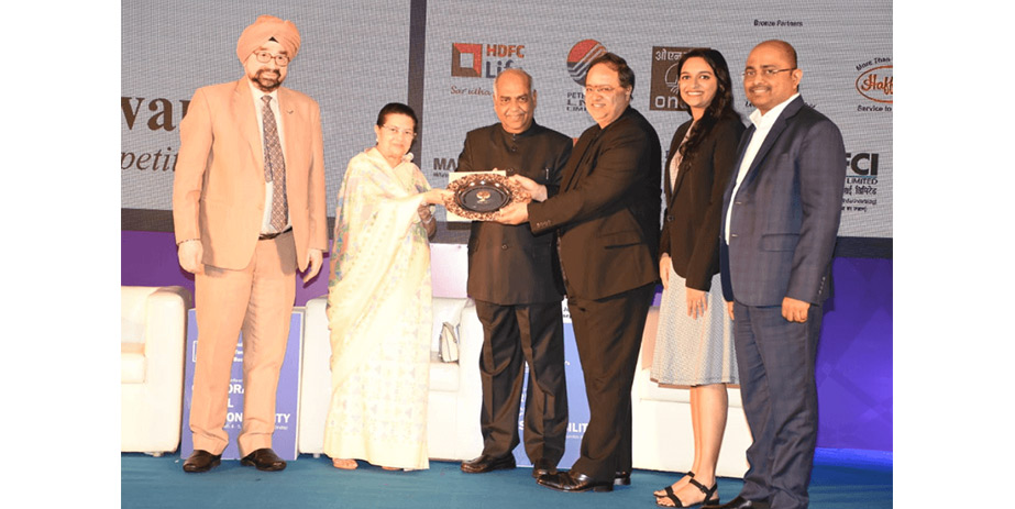 The Tristar team picking up the CSR Golden Peacock Award