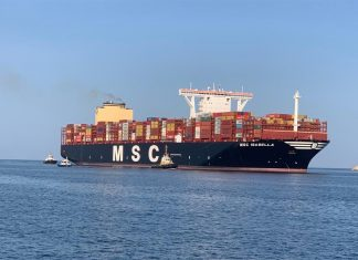 MSC Isabella calling into the Port of Salalah earlier this month