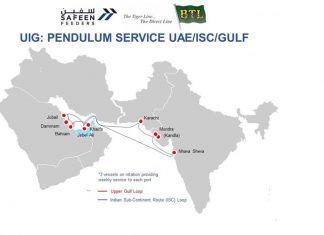 The initial port rotations of the Safeen Feeders service