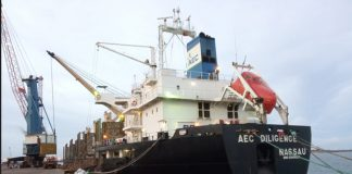 AEC Diligence alongside in Paradip during the record-breaking operation