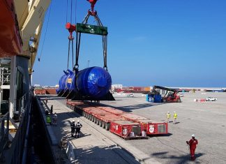 Mammoet has successfully transported a series of LPG tanks, known as bullets, from Sohar to the Duqm refinery site, via the Port of Duqm
