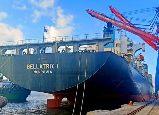 The launch of the UIG service in Karachi was marked by the maiden call of the 2,762 teu capacity Bellatrix I at PICT.