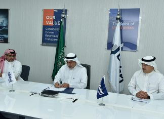 Bahri Chief Executive, Abdullah Aldubaikhi, signing the contract for ten new chemical tankers