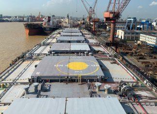 The bulk carrier Nikki at China's Cosco Guangzhou shipyard