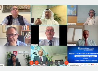 Panellists for TMS Webinar 7- Spotlight on Offshore, Oil & Gas