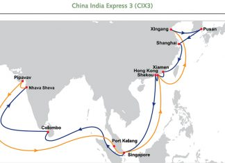 OOCL has revised the port rotation of its China India Express 3 service