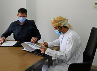 The general cargo terminal operator in the port of Sohar has signed a deal for the handling of wheat and grains. Raid Al-Rubaiey, CEO, Sohar Flour Mills and Hendrik Schenkenberg van Mierop, CEO, C. Steinweg Oman conclude the agreement