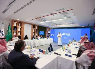 Bahri's CEO, Eng. Abdullah Aldubaikhi, talking to investors about Bahri's recent achievements