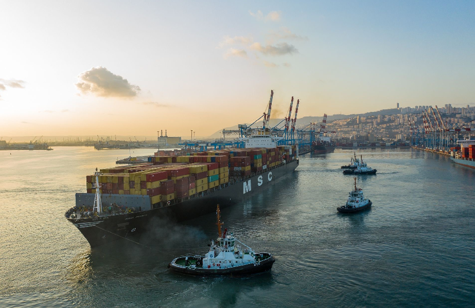 MSC Paris makes its historic first call into the port of Haifa