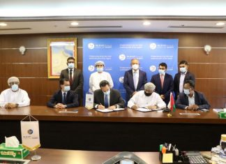 Port of Duqm executives sign the agreement with Middle East Fuji Khimji Shipping